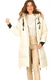 Silvian Heach |  Long down jacket Bodax | natural  | Picture 2
