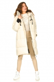 Silvian Heach |  Long down jacket Bodax | natural  | Picture 4