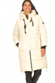 Silvian Heach |  Long down jacket Bodax | natural  | Picture 5