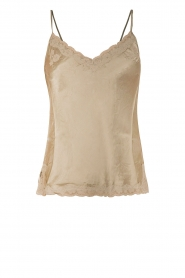 Silk cami top Isabella | olive green
