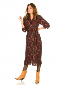Les Favorites |  Paisly print dress Kiki | multi  | Picture 3