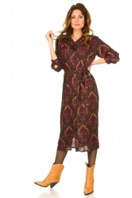 Les Favorites |  Paisly print dress Kiki | multi  | Picture 2