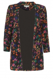 Les Favorites |  Floral blazer cardigan Fancy | black  | Picture 1