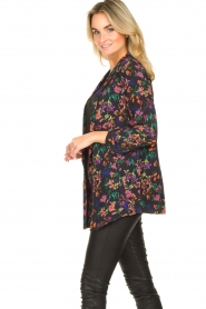 Les Favorites |  Floral blazer cardigan Fancy | black  | Picture 5