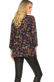 Les Favorites |  Floral blazer cardigan Fancy | black  | Picture 6