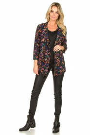 Les Favorites |  Floral blazer cardigan Fancy | black  | Picture 3