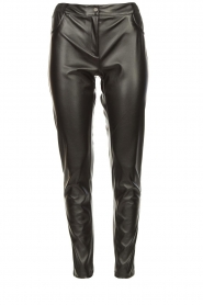 Silvian Heach |  Faux leather pants Framitid | black  | Picture 1