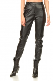 Silvian Heach |  Faux leather pants Framitid | black  | Picture 4