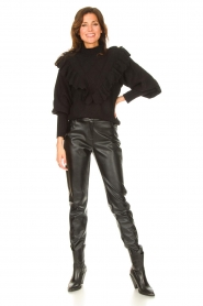 Silvian Heach |  Faux leather pants Framitid | black  | Picture 3
