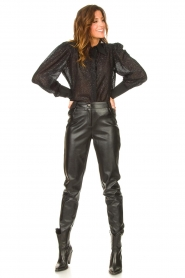 Silvian Heach |  Faux leather pants Framitid | black  | Picture 2