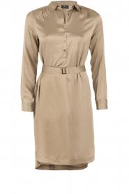 Style Butler | Zijden jurk Isobel | olijfgroen  | Afbeelding 1
