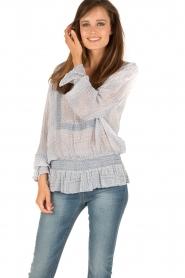 Hunkydory | Tuniek blouse Ruth | blauw  | Afbeelding 2