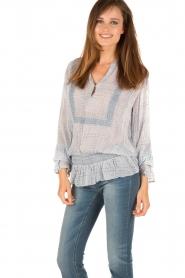 Hunkydory | Tuniek blouse Ruth | blauw  | Afbeelding 3