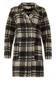 Les Favorites |  Checkered coat Kris | grey  | Picture 1