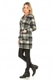 Les Favorites |  Checkered coat Kris | grey  | Picture 7