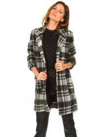 Les Favorites |  Checkered coat Kris | grey  | Picture 4