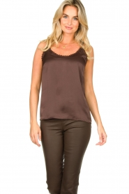 Les Favorites |  Sleeveless top April | brown  | Picture 2
