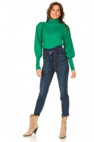 Silvian Heach |  Turtle neck with lurex Laredo | green  | Picture 3