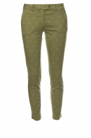 MASONS |  Palm tree printed chino pants New York | green  | Picture 1