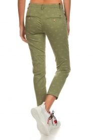 MASONS |  Palm tree printed chino pants New York | green  | Picture 5