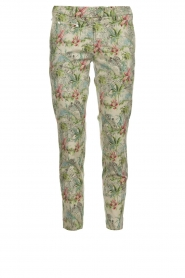 MASONS |  Printed chino pants New York | green  | Picture 1