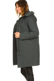 Krakatau |  Luxurious parka coat Mercury | grey  | Picture 5