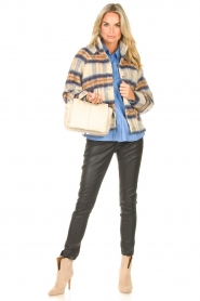 Second Female | Geruite jas Gila | blauw   | Afbeelding 3