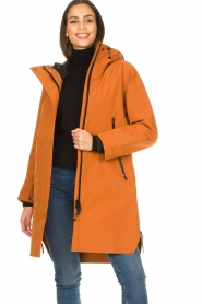 Krakatau |  Parka with detachable quilted Liner | orange  | Picture 4