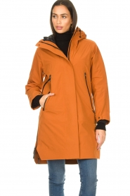 Krakatau |  Parka with detachable quilted Liner | orange  | Picture 6