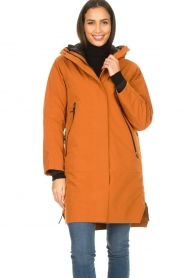 Krakatau |  Parka with detachable quilted Liner | orange  | Picture 5