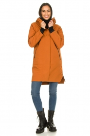 Krakatau |  Parka with detachable quilted Liner | orange  | Picture 3
