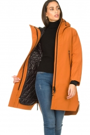 Krakatau |  Parka with detachable quilted Liner | orange  | Picture 2