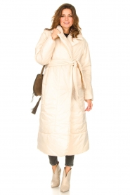 Second Female |  Puffer jacket with matching waistbelt Eva | natural  | Picture 4