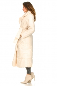 Second Female |  Puffer jacket with matching waistbelt Eva | natural  | Picture 5