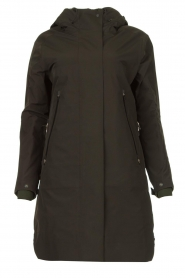 Krakatau |  Parka with green detachable quilted Liner | dark green  | Picture 1