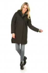 Krakatau |  Parka with green detachable quilted Liner | dark green  | Picture 3