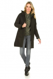 Krakatau |  Parka with green detachable quilted Liner | dark green  | Picture 4