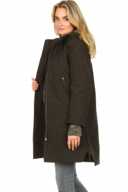 Krakatau |  Parka with green detachable quilted Liner | dark green  | Picture 6