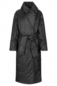 Second Female    Puffer jacket with matching waistbelt Eva   black    Picture 1