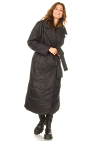 Second Female    Puffer jacket with matching waistbelt Eva   black    Picture 5