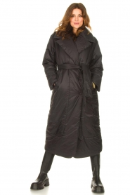 Second Female    Puffer jacket with matching waistbelt Eva   black    Picture 2