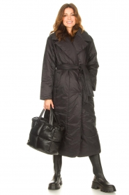 Second Female    Puffer jacket with matching waistbelt Eva   black    Picture 3