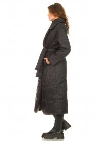Second Female    Puffer jacket with matching waistbelt Eva   black    Picture 6