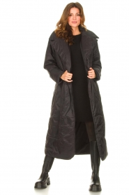 Second Female    Puffer jacket with matching waistbelt Eva   black    Picture 4