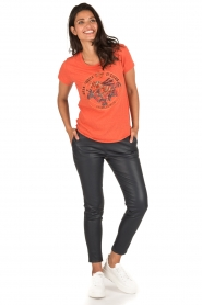 Leon & Harper | T-shirt Bee | oranje  | Afbeelding 3