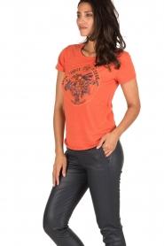 Leon & Harper | T-shirt Bee | oranje  | Afbeelding 4
