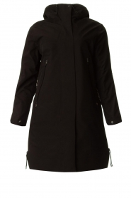 Krakatau |  Parka with black detachable quilted Liner | black