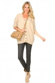 Second Female   Gebreid vest Grethe   beige     Afbeelding 3