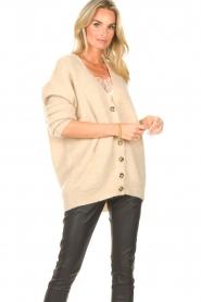 Second Female   Gebreid vest Grethe   beige     Afbeelding 2