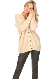 Second Female   Gebreid vest Grethe   beige     Afbeelding 4